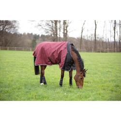 Manta Impermeable Equitación Fouganza ALLWEATHER 300 1000D Burdeos