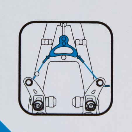 Câble et triangle cantilever