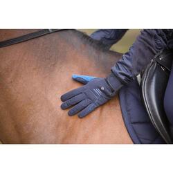 Warme rijhandschoenen Perf volwassenen marineblauw/koningsblauw