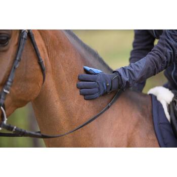 Thermo-Reithandschuhe Perf Erwachsene marineblau/königsblau