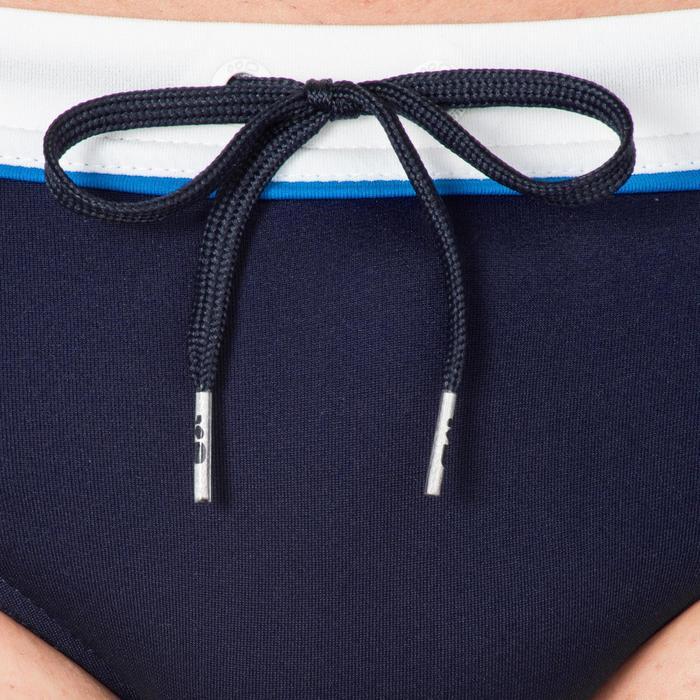 Zwemslip voor heren 100 Pep blauw/wit