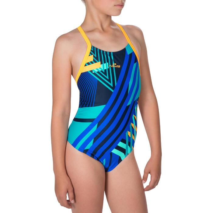 Maillot de bain de natation une pièce fille résistant au chlore Lidia - 1224343