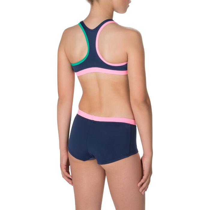 fe9e844dd Bikini Completo Deportivo Niña Piscina Natación Nabaiji Leony Azul/Turquesa