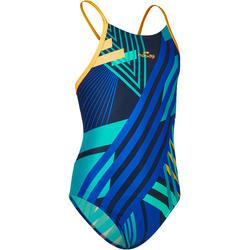 6dcf442773f0 Vestido de baño enterizo resistente al cloro de natación para niña Lidia  azul