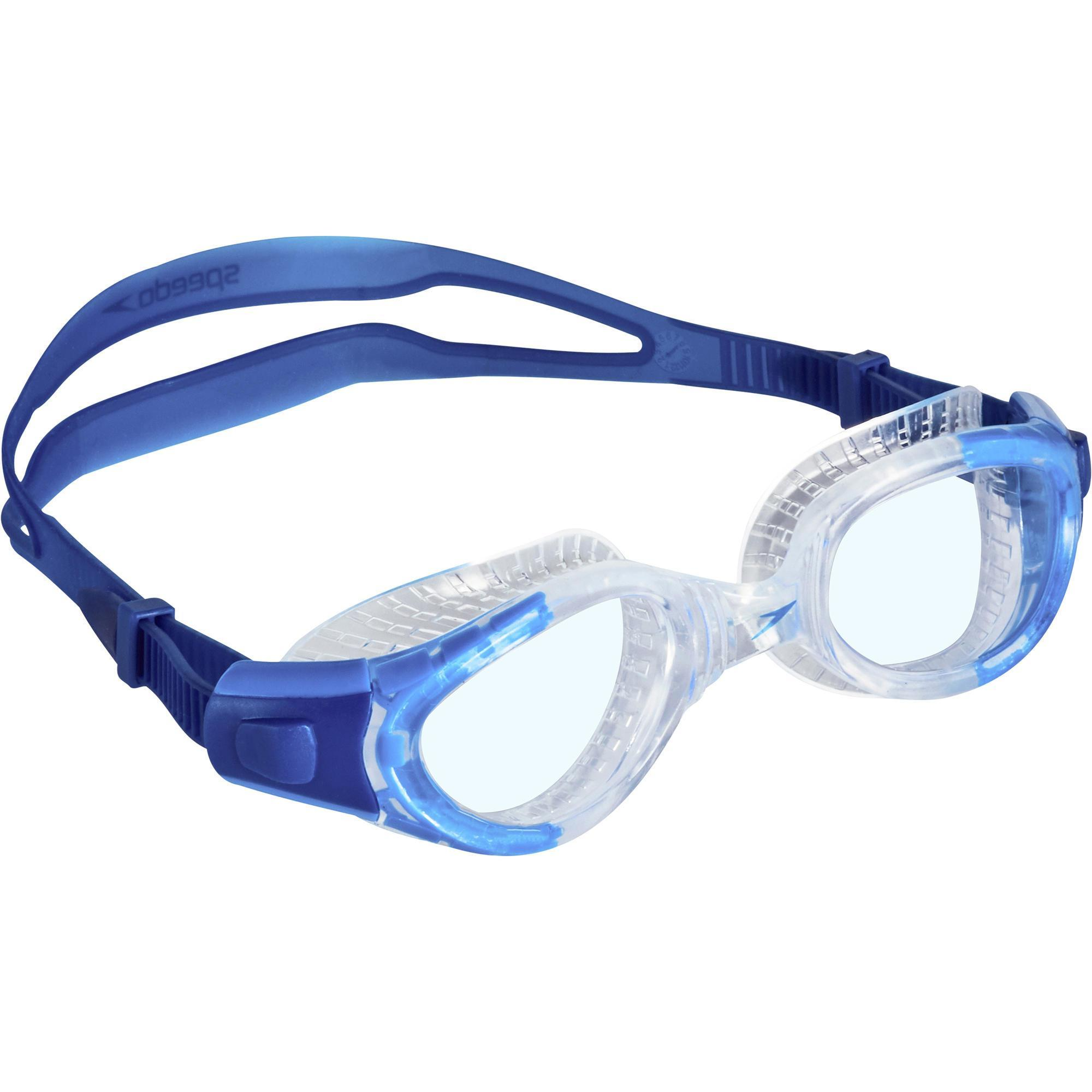 Speedo zwembril futura biofuse flexiseal helder decathlon for Trampoline piscine decathlon
