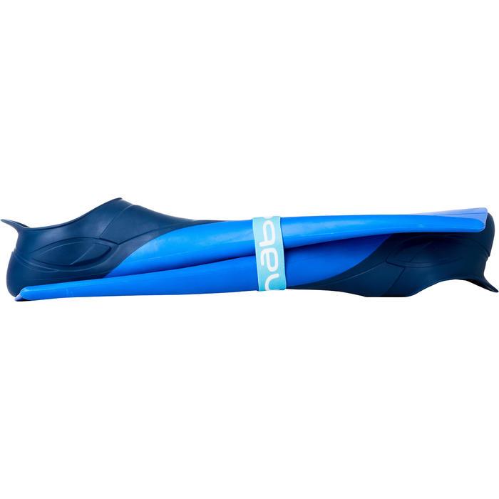Schwimmflossen lang Trainfins 500 Erwachsene & Kinder blau