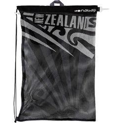 Grote zwemtas in netstof zwart neoz