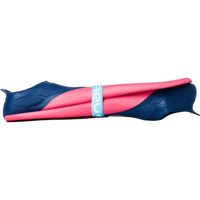 Aletas Largas Piscina Natación Azul/Rosa Nabaiji Traifins 500