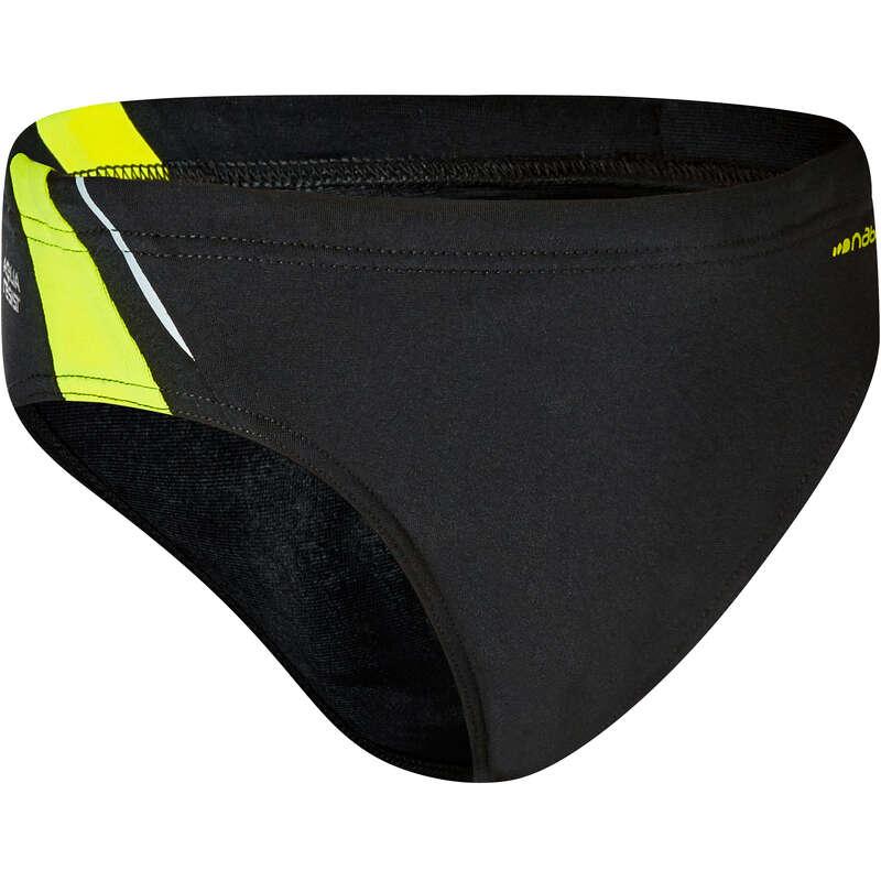 BOY'S SWIMSUITS Swimming - YOKE BOY BRIEFS - BLACK YELLOW NABAIJI - Swimwear