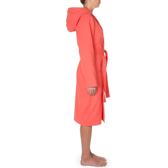 Katoenen dames badjas met bindceintuur