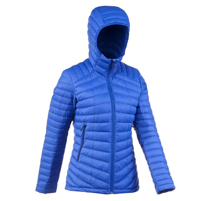 Donsjas voor bergtrekking dames Trek 100 blauw
