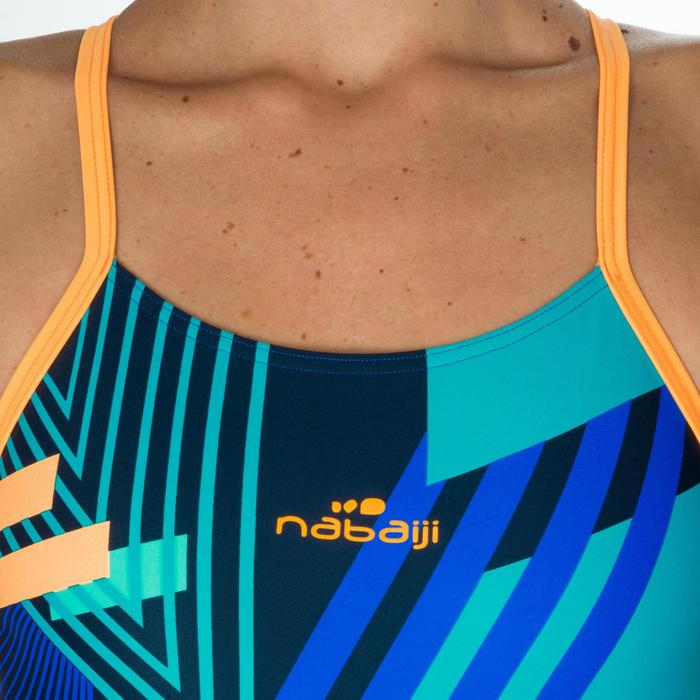 Maillot de bain de natation une pièce femme résistant au chlore Lidia bleu navy - 1224620