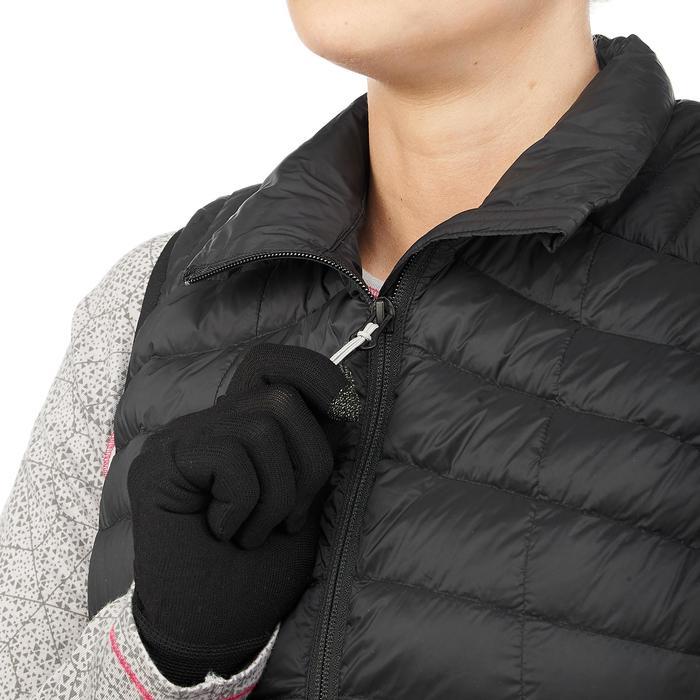 Dons bodywarmer voor bergtrekking dames Trek 100 zwart