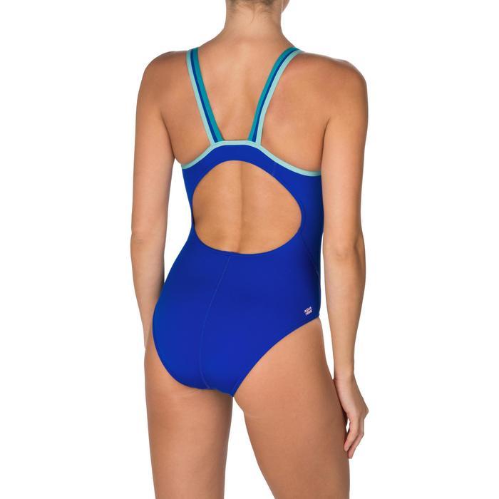 Bañador de natación una pieza mujer Kamiye+ azul azul