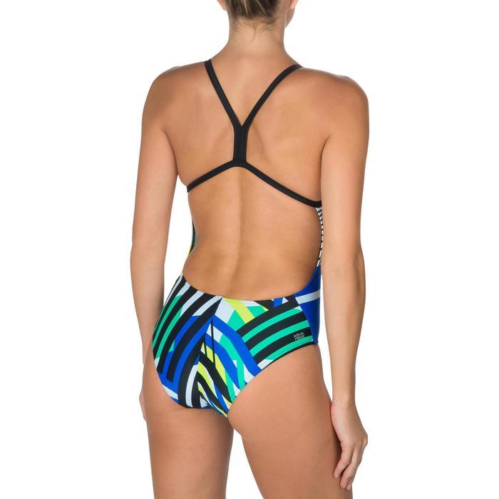 Maillot de bain de natation une pièce femme résistant au chlore Lidia bleu navy - 1224700