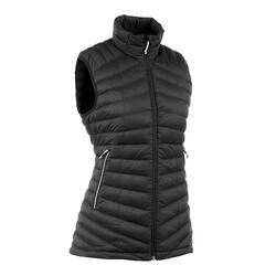 女款登山健行無袖羽絨背心Trek 500-黑色