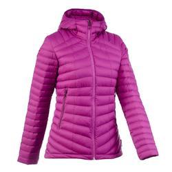 女款登山健行羽絨外套Trek 500-紫色
