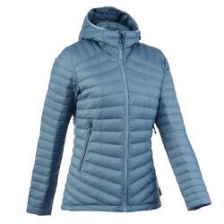 女款登山健行羽絨外套Trek 500 - 藍色