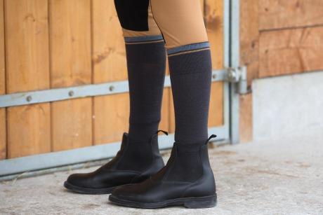 boots croûte de cuir enduite