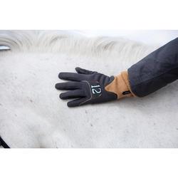 Guantes cálidos de equitación para niños EASYWEAR gris