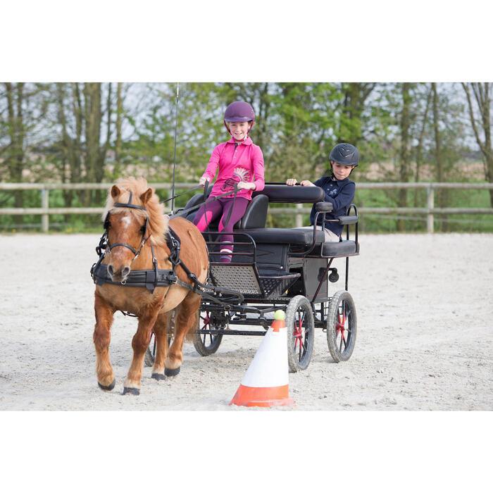 Polo manches longues équitation enfant INDIAN PONEY - 1224843