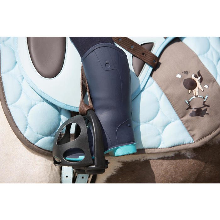 Bottes équitation bébé BH 100 bleu