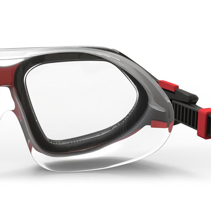 Zwembril Active maat L zwart rood