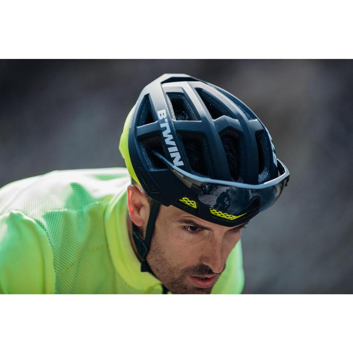 CASQUE VELO RACER NOIR/JAUNE FLUO