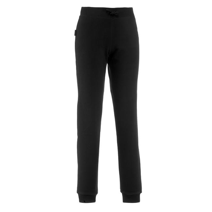 Fleece legging voor bergtrekking dames Trek 100 zwart