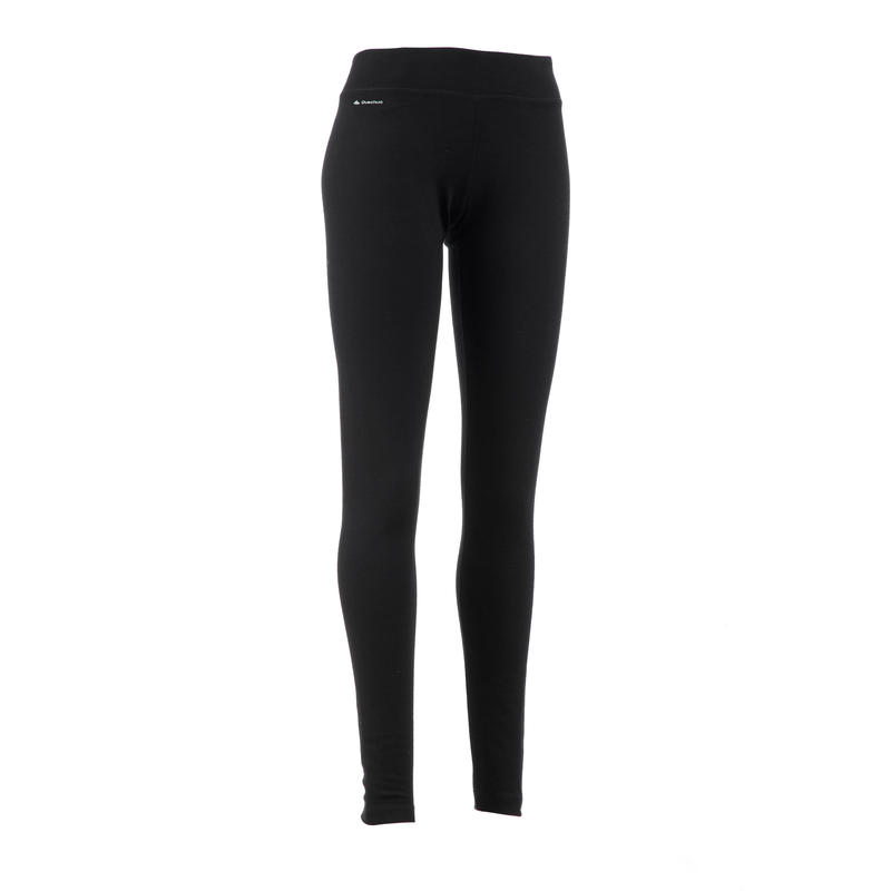 Women's Mountain trekking merino wool leggings TechWOOL 190 - black