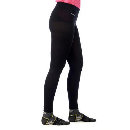 Women's Mountain Trekking Merino Underwear - Trek 500 - Black