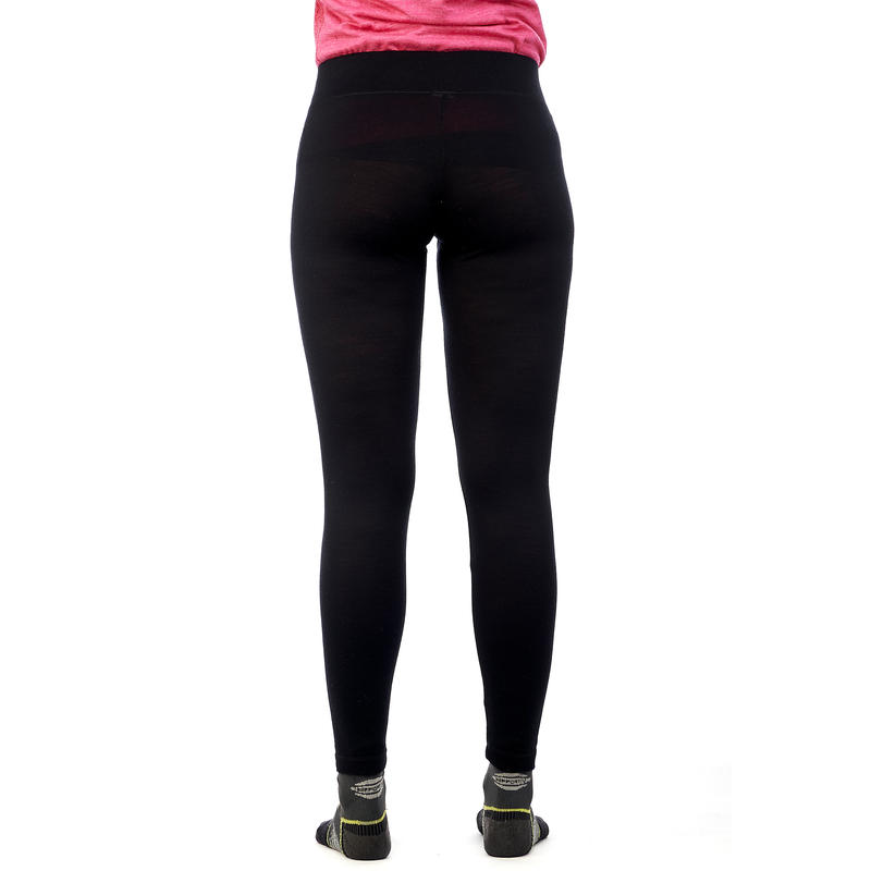 Women's Mountain trekking merino wool leggings TechWOOL 190 - black