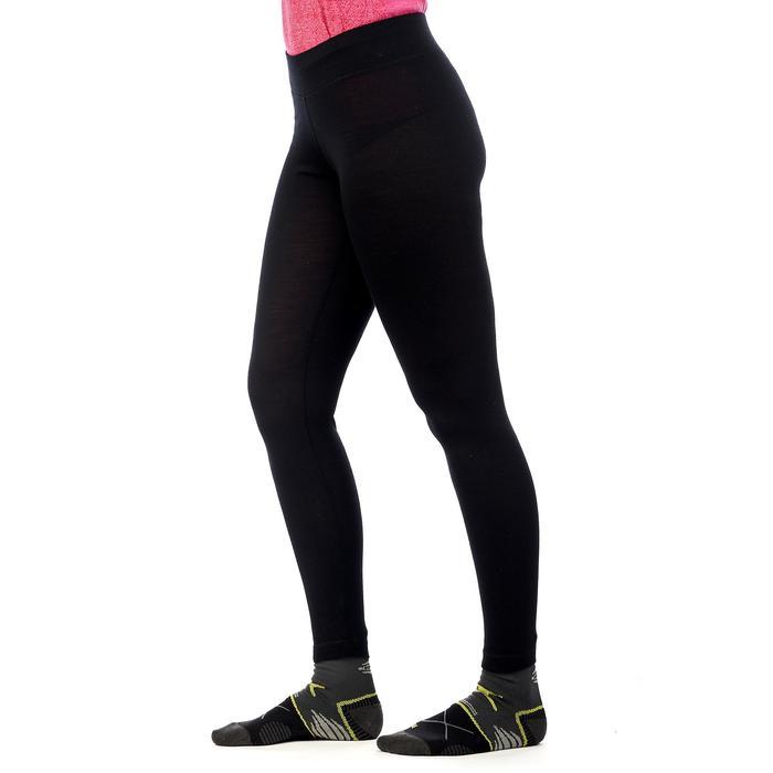 Merino legging voor bergtrekking dames Trek 500 zwart