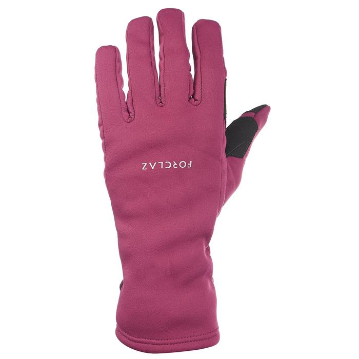 Ademende handschoenen voor bergtrekking volwassenen Trek 500 paars