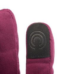 Trek 500 Adult Mountain Trekking Gloves - Purple