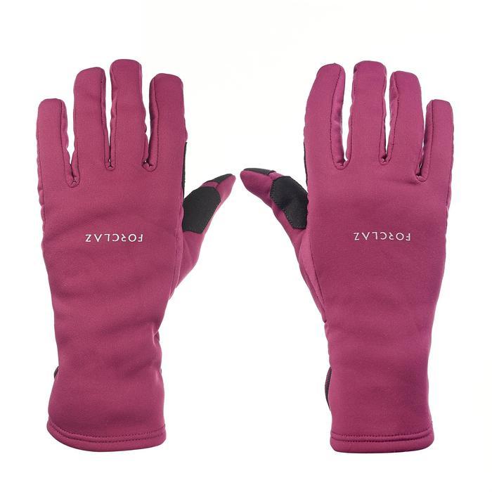 Handschoenen voor bergtrekking volwassenen Trek 500 paars