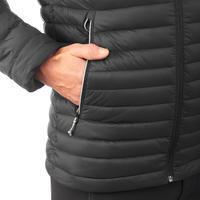 """Vyriška pūkinė kalnų žygių striukė """"Trek 100"""", -5°C temperatūrai, juoda"""