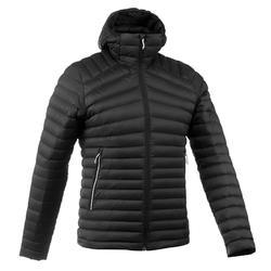 Men's black TREK 500 mountain TREKKING down jacket