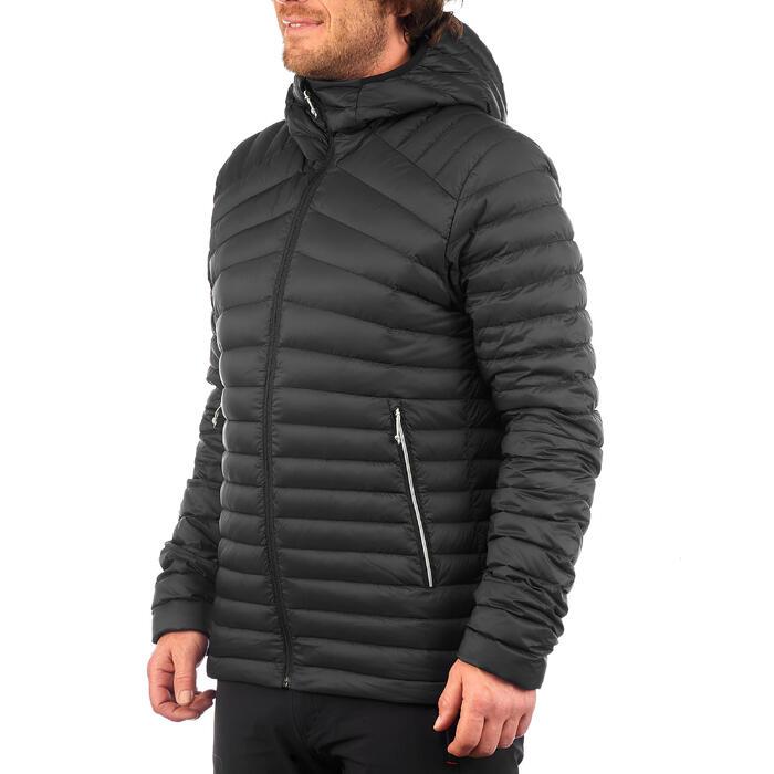 Men's Mountain trekking down jacket TREK 100 DOWN - Black