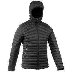 男款登山健行羽絨外套-舒適溫度為-5°C-TREK 100-黑色