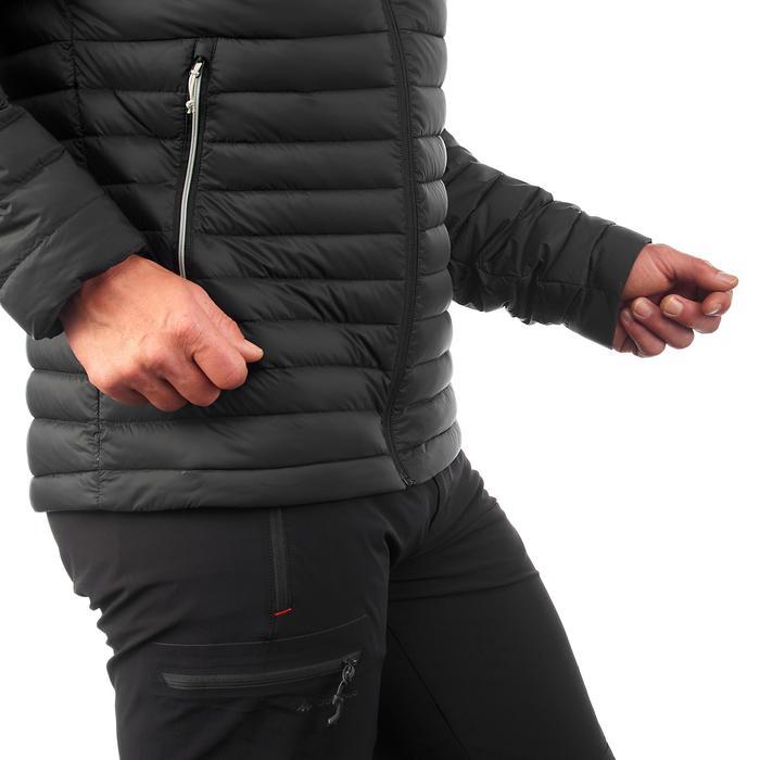 男款登山健行羽絨外套TREK 100-黑色