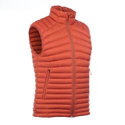 Gilet doudoune sans manche trekking montagne TREK500 homme orange
