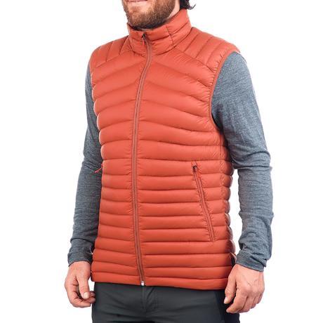 gilet doudoune sans manche trekking montagne trek 500 homme orange quechua. Black Bedroom Furniture Sets. Home Design Ideas