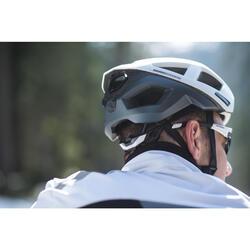 CASQUE VELO RACER BLANC/NOIR