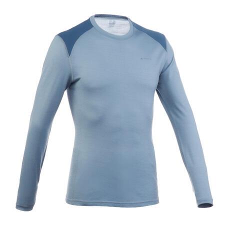 TECHWOOL190 Men's Mountain Trekking Long-Sleeved T-Shirt - Grey