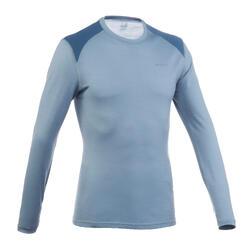 Shirt met lange mouwen voor trekking in de bergen Techwool 190 heren grijs