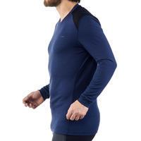 T-shirt manches longues randonnée montagne TECHWOOL190 homme bleu