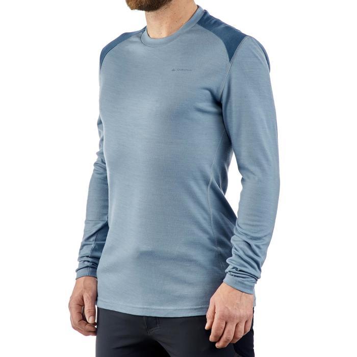 T- Shirt manches longues TREKKING montagne TECHWOOL 190 homme - 1225267