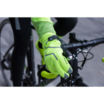 Fahrrad-Winterhandschuhe 900 neongelb