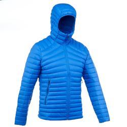 Gewatteerde jas voor bergtrekking Trek 500 heren blauw